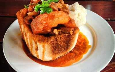 Bunny Chow:  a South African bread bowl sans bunnies