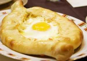 Khachapuri Georgian cheese bread