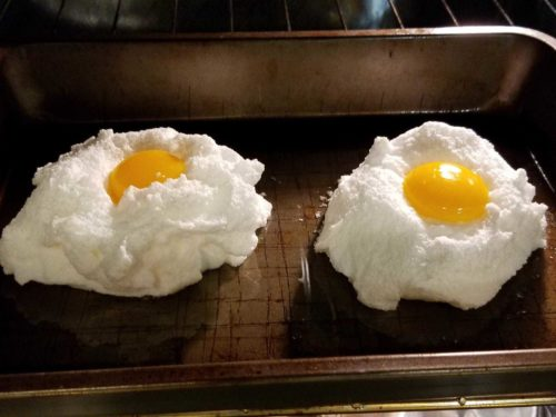 cloud eggs in a cloud baked oven recipe