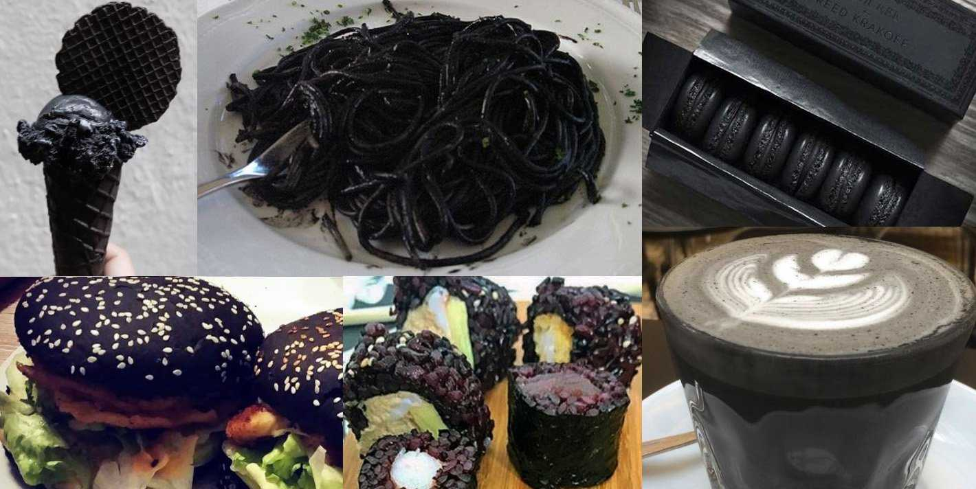 dark black goth food glutto digest
