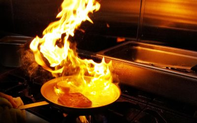 Flaming Saganaki: this cheese is on fire
