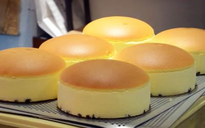 Japanese cheesecake: wobble baby, wobble baby, wobble baby wobble