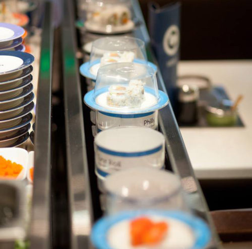 automated restaurant seattle washington blue c sushi