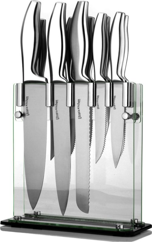 foodie food lover gifts Premium Class Stainless Steel Kitchen Knives Set