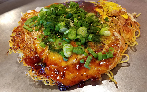 How to make the best easy okonomiyaki: savory Japanese pancakes including the best mix, recipe, ingredients, sauce, flour and some of the top restaurants near you
