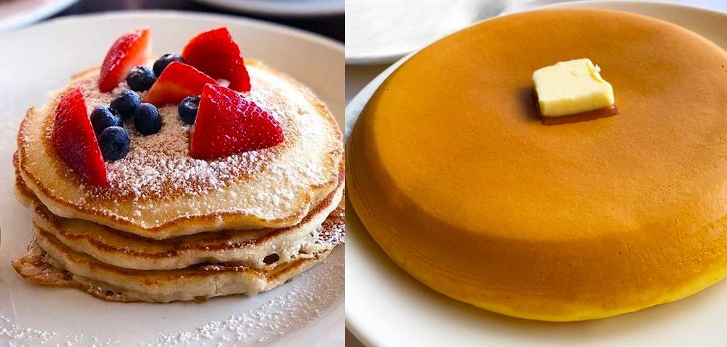 american pancakes vs. japanese rice cooker pancakes
