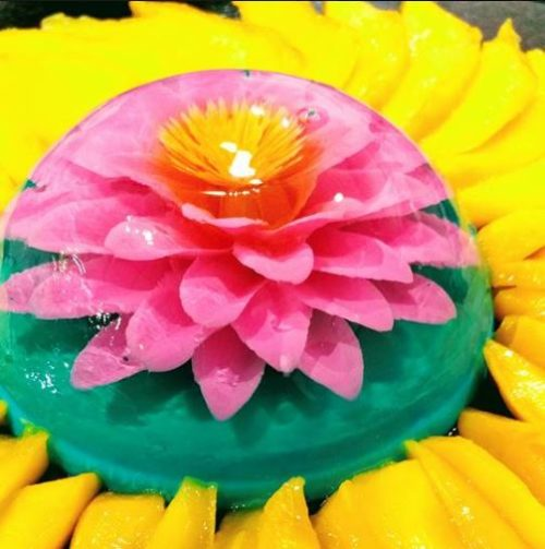 gelatin flowers flower art los angeles california