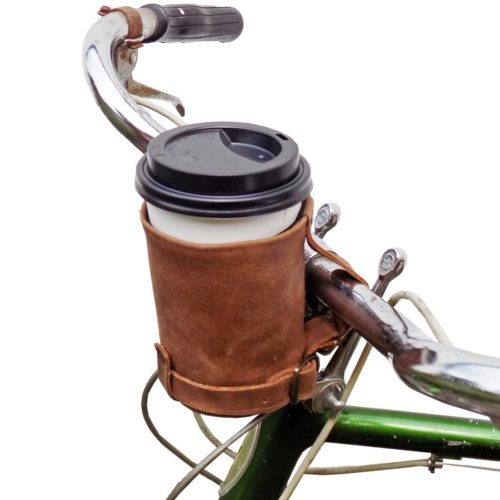 foodie food lover gifts leather bike cup coffee holder