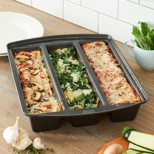 foodie food lover gifts lasagna trio pan three recipes