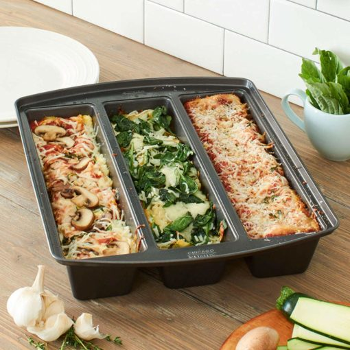 foodie food lover gifts lasagna trio pan three recipes