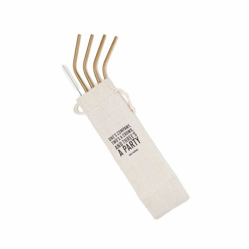 foodie food lover gifts gold plated reusable straws