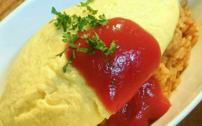 Omurice: a fluffy Japanese omelette eggsplosion