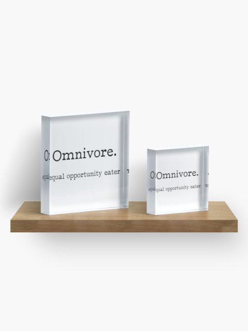 omnivore equal opportunity eater paper weight