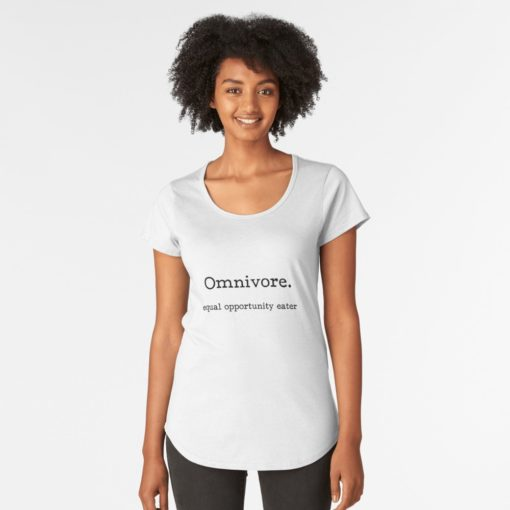 omnivore equal opportunity eater premium t-shirt