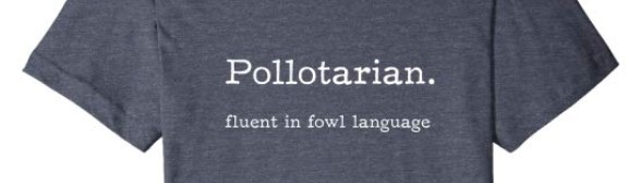 pollotarian tshirt funny clever fluent in fowl language