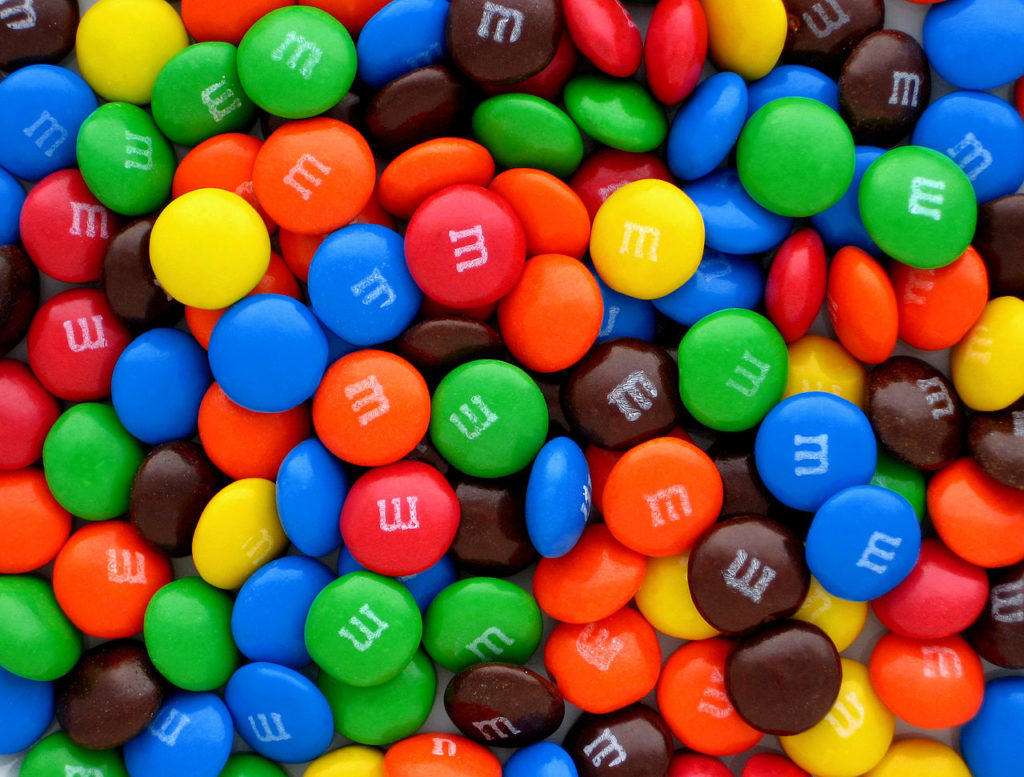 most popular halloween candy m&m's