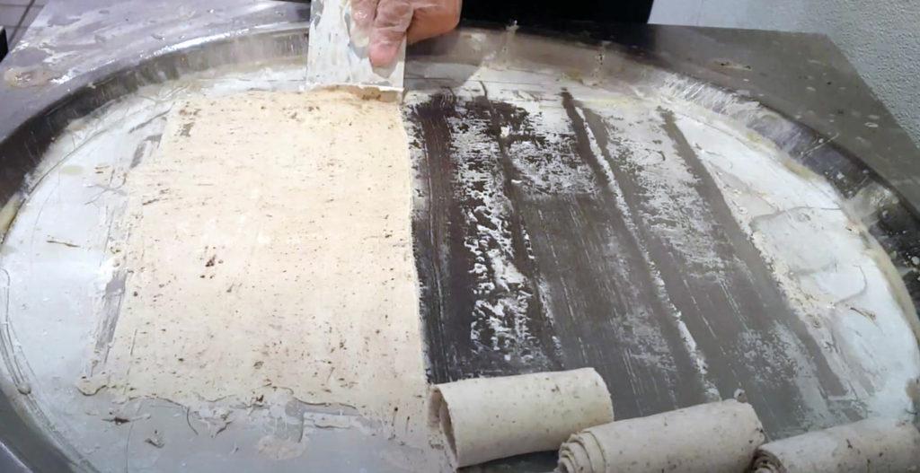 rolled ice cream machine