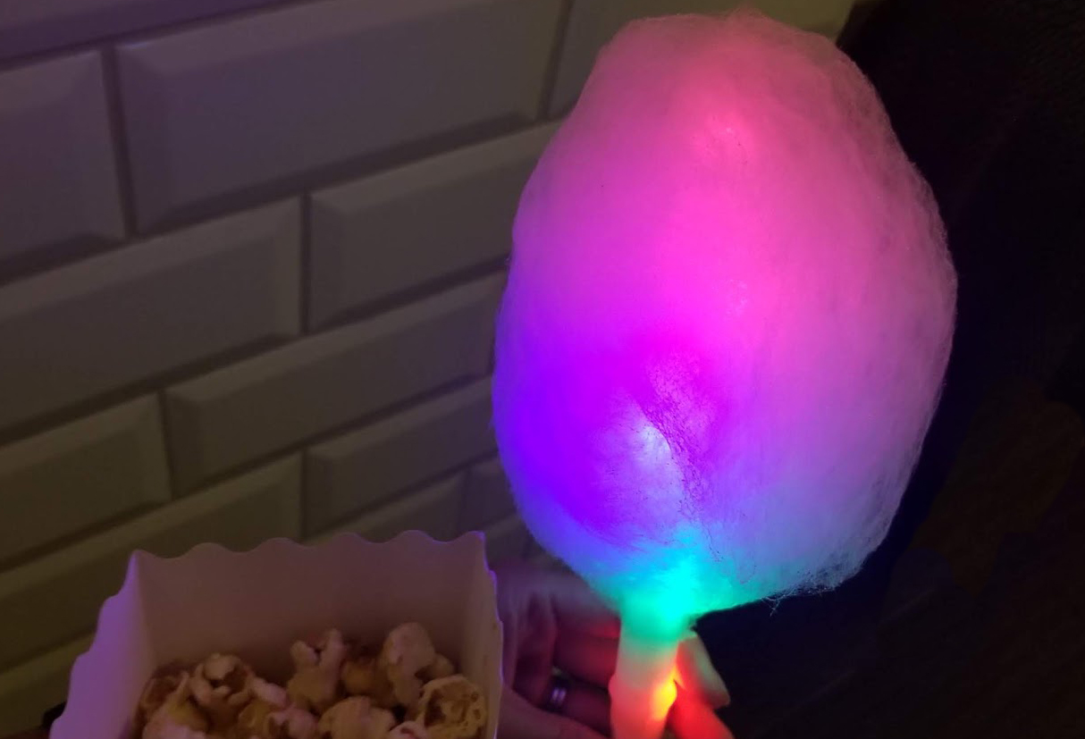 glow in the dark cotton candy light up LED